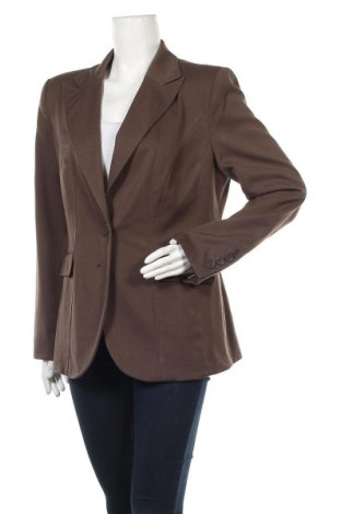 Дамско сако, Размер XL, Цвят Кафяв, 64% полиестер, 34% вискоза, 2% еластан, Цена 15,12лв.