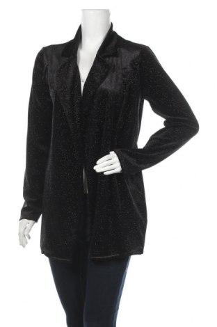 Дамско сако Gina Tricot, Размер XL, Цвят Черен, 94% полиестер, 6% еластан, Цена 22,68лв.