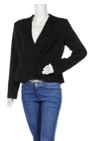 Дамско сако H&M, Размер XL, Цвят Черен, 80% полиестер, 18% вискоза, 2% еластан, Цена 21,07лв.