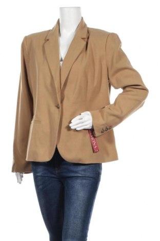 Дамско сако Merona, Размер XL, Цвят Кафяв, 70% полиестер, 25% вискоза, 3% вълна, 2% еластан, Цена 39,69лв.