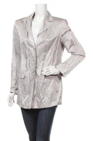 Γυναικείο σακάκι Samoon, Μέγεθος L, Χρώμα Γκρί, 48% βαμβάκι, 45% πολυεστέρας, 7% μεταλλικά νήματα, Τιμή 2,03€