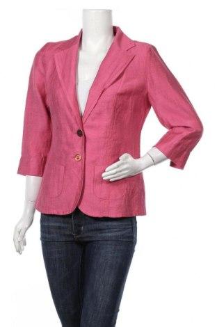 Дамско сако Sommermann, Размер M, Цвят Розов, 50% лен, 40% вискоза, 10% полиестер, Цена 16,07лв.