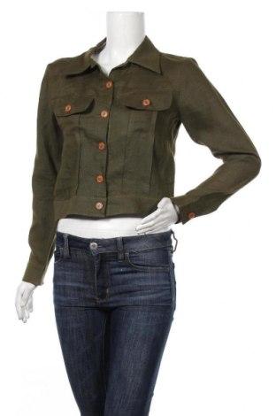 Дамско яке, Размер M, Цвят Зелен, Лен, Цена 21,32лв.