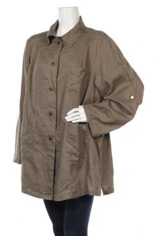 Дамско яке, Размер 3XL, Цвят Кафяв, Лен, Цена 36,00лв.