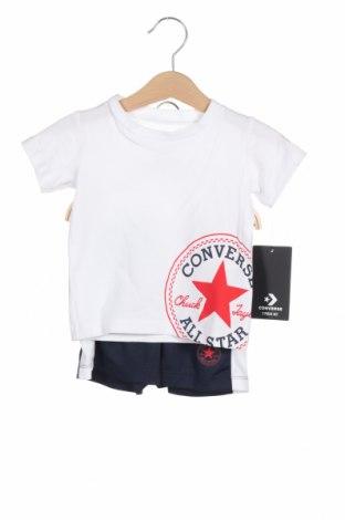 Παιδικό σύνολο Converse, Μέγεθος 12-18m/ 80-86 εκ., Χρώμα Λευκό, Βαμβάκι, Τιμή 28,90€