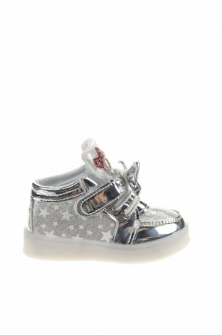 Παιδικά παπούτσια, Μέγεθος 22, Χρώμα Γκρί, Δερματίνη, κλωστοϋφαντουργικά προϊόντα, Τιμή 10,91€