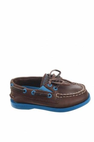 Παιδικά παπούτσια Sperry, Μέγεθος 21, Χρώμα Καφέ, Γνήσιο δέρμα, Τιμή 11,37€