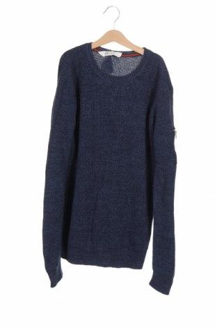 Детски пуловер H&M L.O.G.G., Размер 14-15y/ 168-170 см, Цвят Син, Памук, Цена 6,04лв.