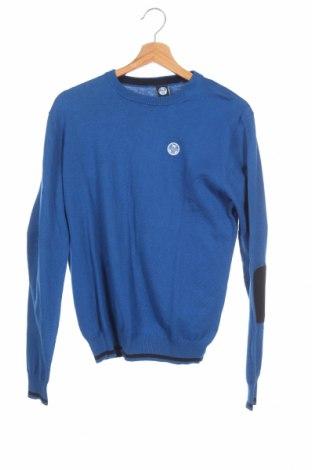 Детски пуловер North Sails, Размер 15-18y/ 170-176 см, Цвят Син, 60% памук, 20% полиамид, 20% вълна, Цена 49,77лв.
