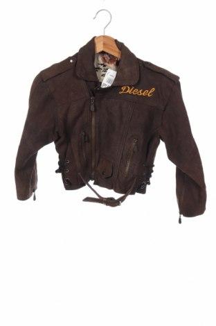 Παιδικό δερμάτινο μπουφάν Diesel, Μέγεθος 10-11y/ 146-152 εκ., Χρώμα Καφέ, Γνήσιο δέρμα, Τιμή 47,51€