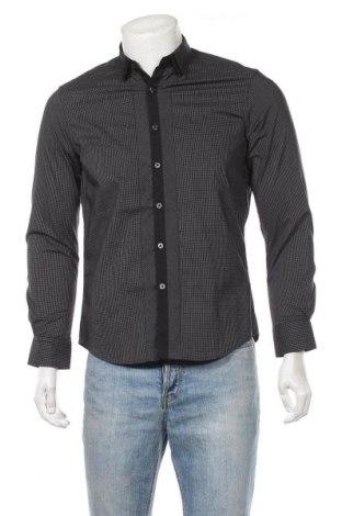 Ανδρικό πουκάμισο Bossini, Μέγεθος S, Χρώμα Μαύρο, 63% βαμβάκι, 33% πολυαμίδη, 4% ελαστάνη, Τιμή 9,94€