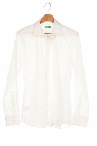 Мъжка риза United Colors Of Benetton, Размер XS, Цвят Бял, 68% памук, 28% полиамид, 4% еластан, Цена 19,20лв.