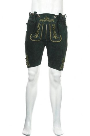 Pantaloni scurți de bărbați, Mărime M, Culoare Verde, Velur natural, Preț 258,63 Lei