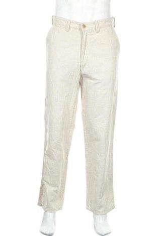 Ανδρικό παντελόνι Camel Active, Μέγεθος M, Χρώμα  Μπέζ, 55% βαμβάκι, 45% λινό, Τιμή 16,56€