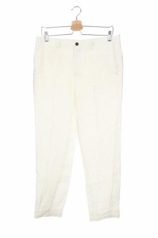 Ανδρικό παντελόνι Viggo, Μέγεθος M, Χρώμα Λευκό, Λινό, Τιμή 36,88€