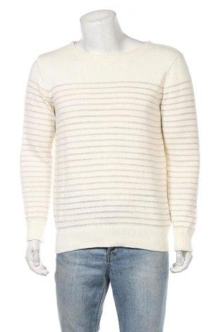 Ανδρικό πουλόβερ Club Monaco, Μέγεθος M, Χρώμα Λευκό, 93% βαμβάκι, 7% λινό, Τιμή 13,18€
