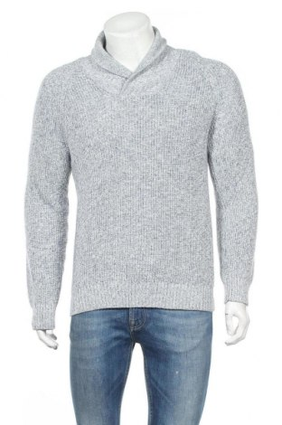 Мъжки пуловер H&M L.O.G.G., Размер M, Цвят Син, Цена 6,75лв.