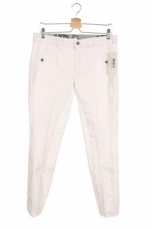 Мъжки спортен панталон Rts Sportline, Размер M, Цвят Бял, 63% полиестер, 32% вискоза, 5% еластан, Цена 19,90лв.