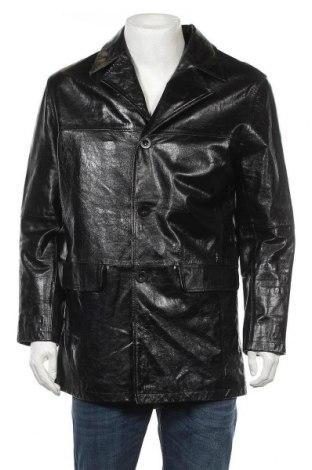 Ανδρικό δερμάτινο μπουφάν Mauritius, Μέγεθος L, Χρώμα Μαύρο, Γνήσιο δέρμα, Τιμή 24,94€