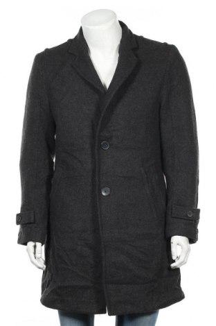Мъжко палто INC International Concepts, Размер M, Цвят Сив, 53% вълна, 35% вискоза, 11% полиестер, 1% други тъкани, Цена 15,37лв.