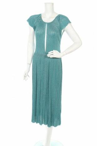 Φόρεμα Elisabetta Franchi, Μέγεθος L, Χρώμα Πράσινο, 80% βισκόζη, 20% πολυεστέρας, Τιμή 212,53€
