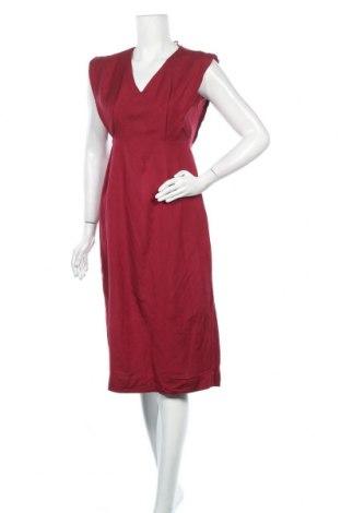 Рокля Oysho, Размер S, Цвят Червен, 55% лен, 45% вискоза, Цена 55,50лв.
