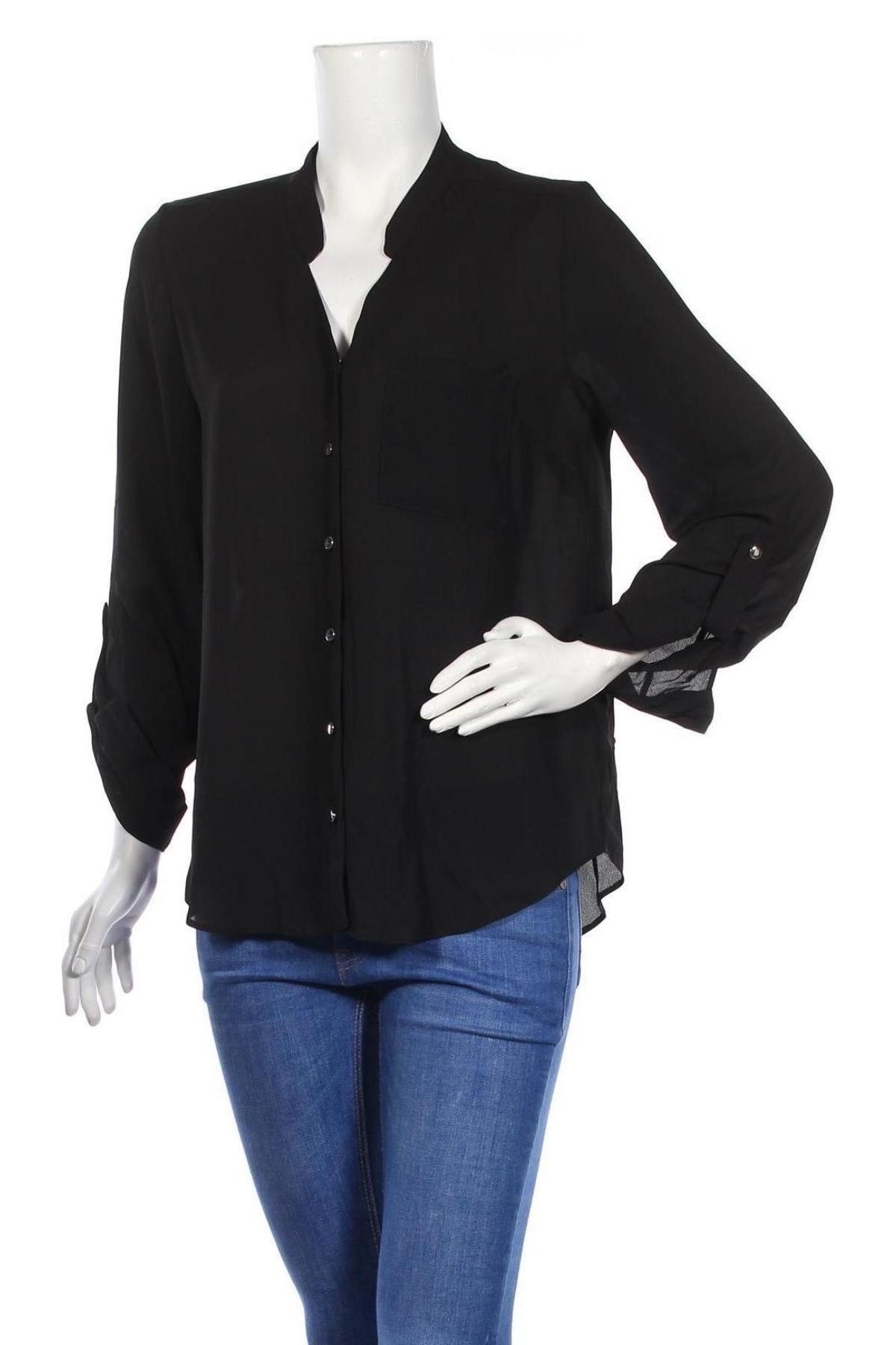 Дамска риза Dorothy Perkins, Размер M, Цвят Черен, Полиестер, Цена 12,42лв.