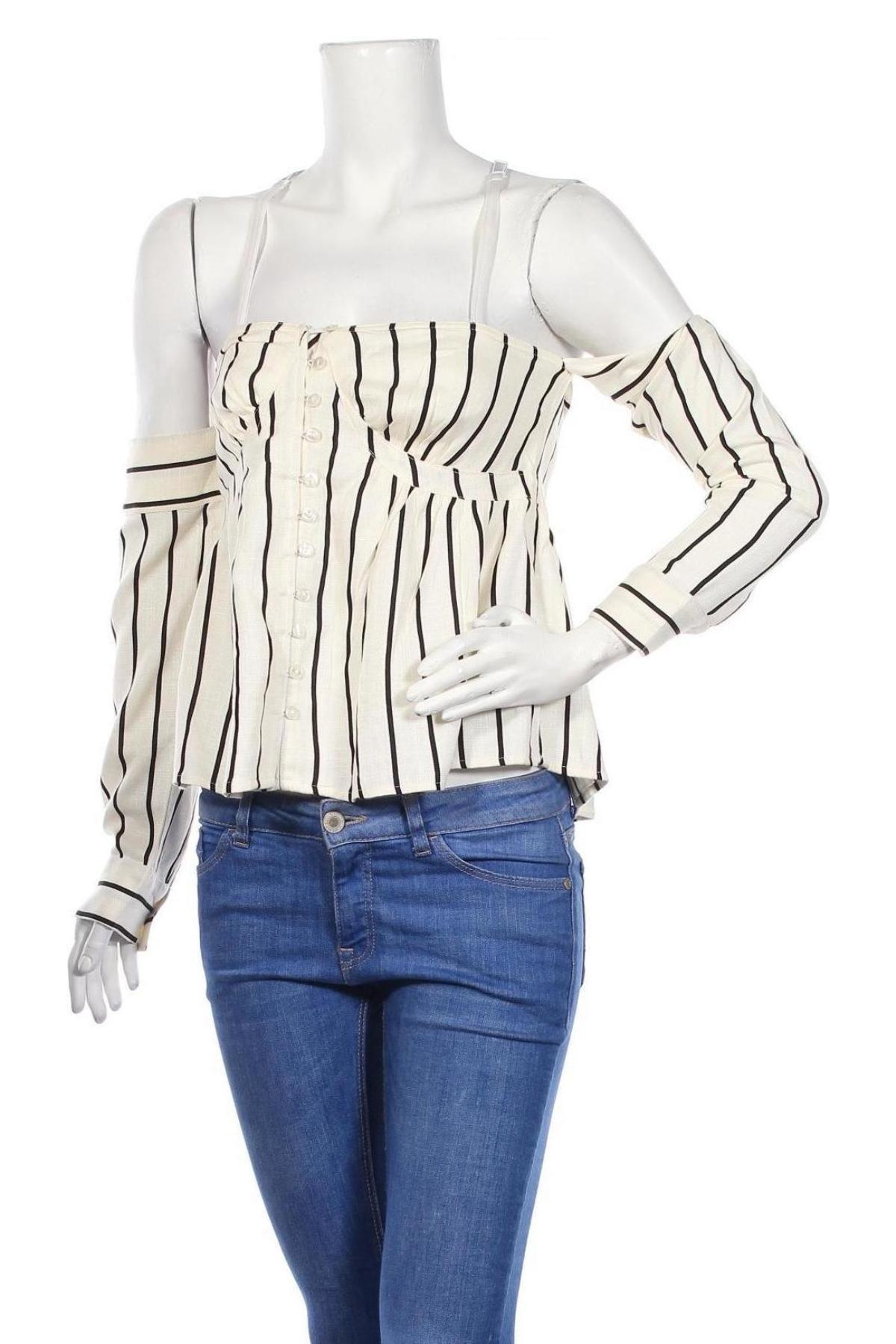 Дамска риза Lost Ink, Размер M, Цвят Бял, Вискоза, Цена 17,82лв.