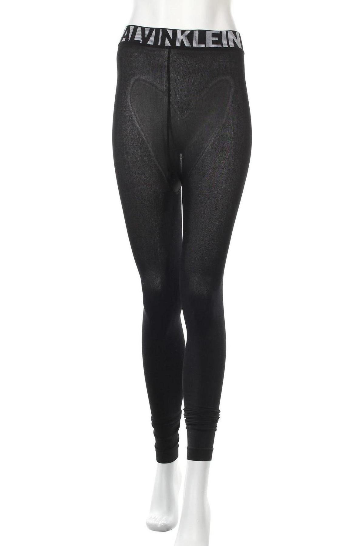 Дамски клин Calvin Klein, Размер S, Цвят Черен, 64% полиестер, 30% полиамид, 6% еластан, Цена 47,40лв.
