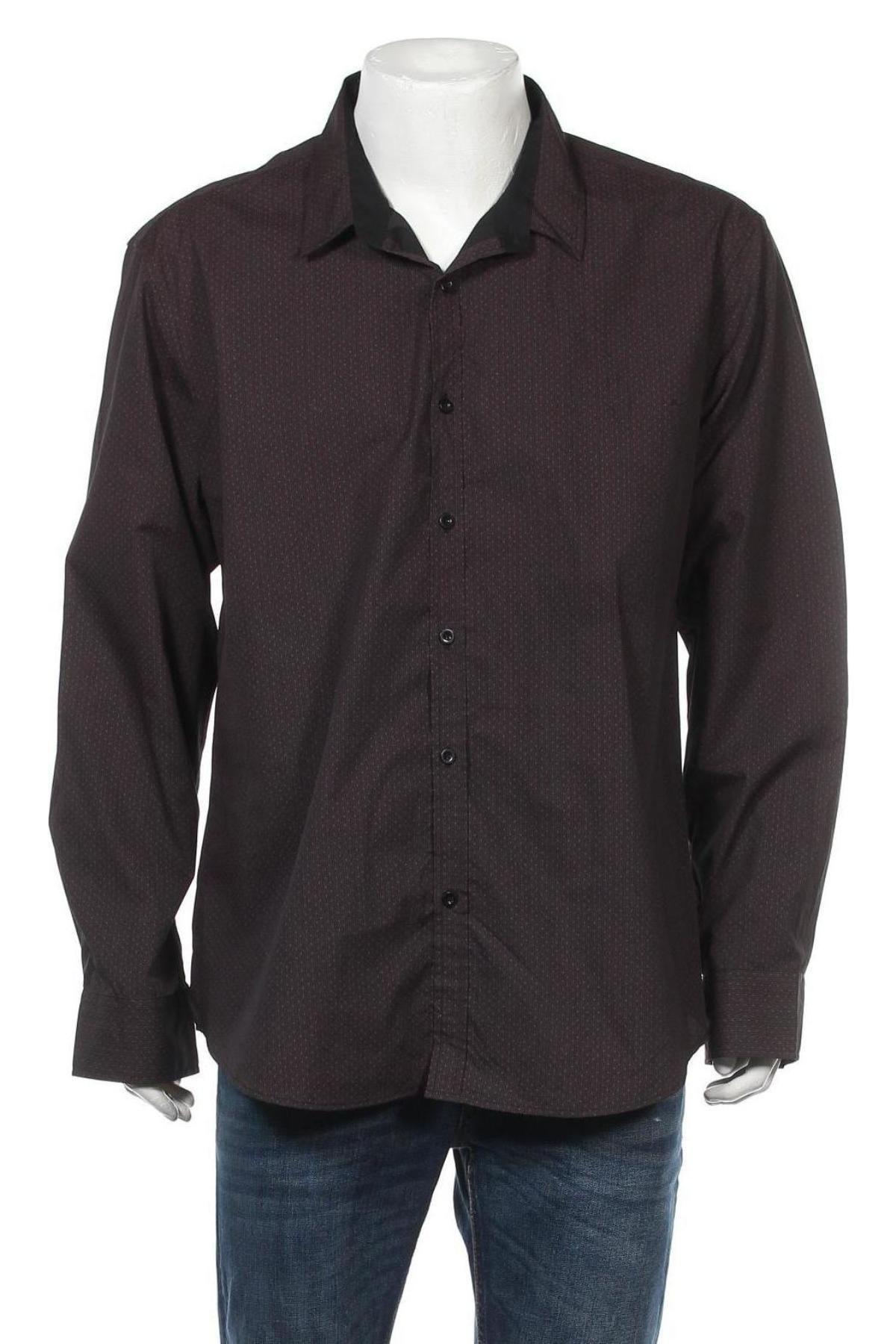 Ανδρικό πουκάμισο P.O. Box, Μέγεθος XXL, Χρώμα Καφέ, 65% πολυεστέρας, 35% βαμβάκι, Τιμή 11,11€