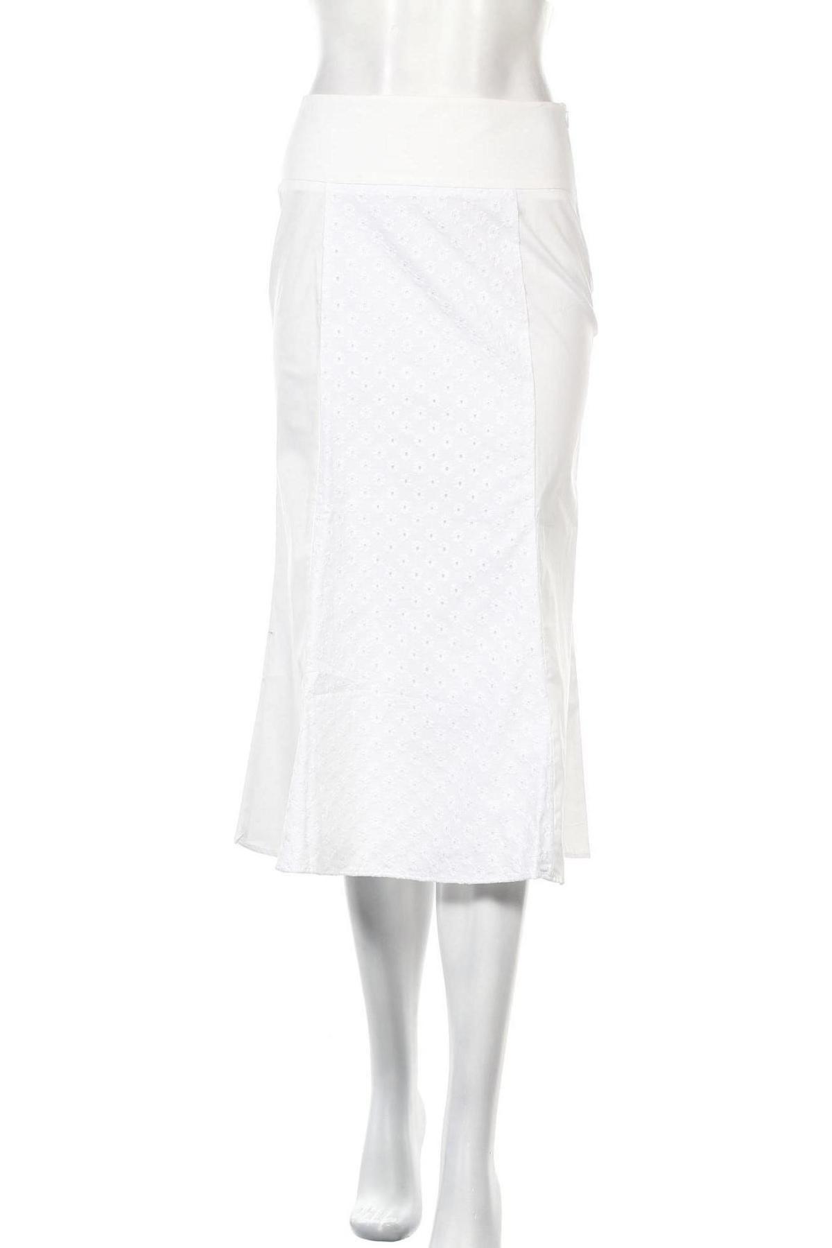 Пола Stefanel, Размер XS, Цвят Бял, 96% памук, 4% еластан, Цена 26,55лв.