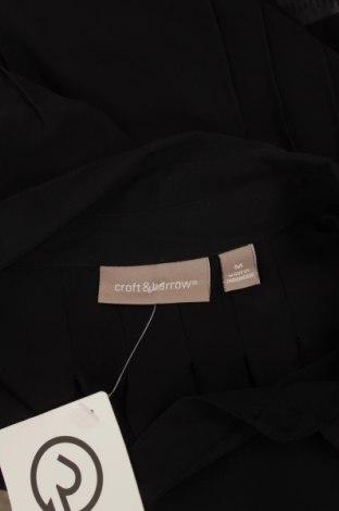Γυναικείο πουκάμισο Croft & Barrow, Μέγεθος M, Χρώμα Μαύρο, Πολυεστέρας, Τιμή 10,52€