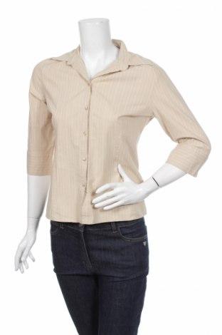 Дамска риза Hennes, Размер L, Цвят Бежов, 96% памук, 4% еластан, Цена 5,98лв.