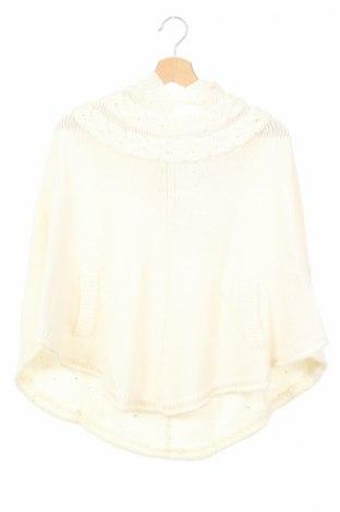 Детско пончо H&M, Размер 14-15y/ 168-170 см, Цвят Бял, 70% акрил, 30% вълна, Цена 29,92лв.