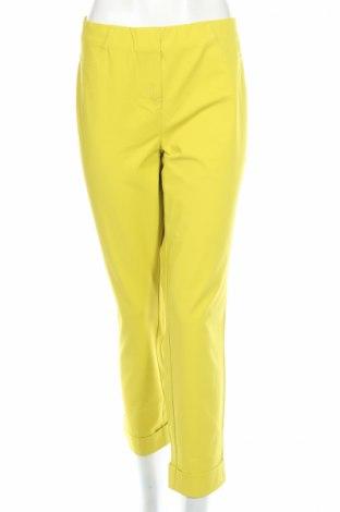Pantaloni de femei Stehmann, Mărime L, Culoare Galben, 48% bumbac, 47% poliamidă, 5% elastan, Preț 57,04 Lei