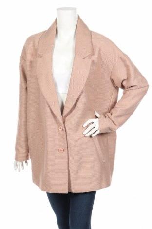 Γυναικείο παλτό Vero Moda, Μέγεθος XL, Χρώμα  Μπέζ, 80% πολυεστέρας, 15%ακρυλικό, 5% άλλα υφάσματα, Τιμή 11,08€