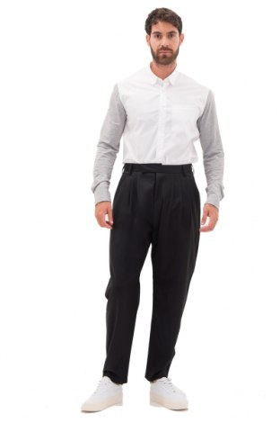 Мъжки панталон Adidas Slvr, Размер L, Цвят Черен, Вълна, Цена 171,75лв.