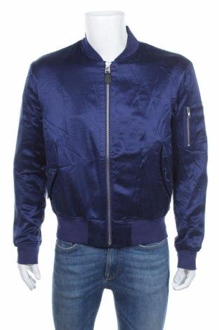 Ανδρικό μπουφάν Adidas Slvr, Μέγεθος L, Χρώμα Μπλέ, 100% μετάξι, Τιμή 75,90€