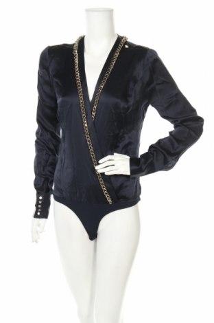 Γυναικεία μπλούζα-Κορμάκι Elisabetta Franchi, Μέγεθος L, Χρώμα Μαύρο, Μετάξι, Τιμή 95,11€