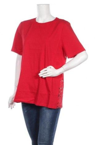Дамска блуза DKNY, Размер L, Цвят Червен, Памук, Цена 42,90лв.