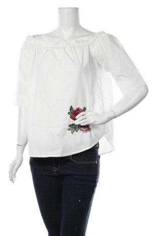Γυναικεία μπλούζα Ichi, Μέγεθος L, Χρώμα Λευκό, 80% πολυεστέρας, 20% βαμβάκι, Τιμή 7,09€