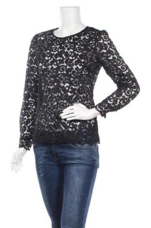 Дамска блуза Naf Naf, Размер M, Цвят Черен, 57% полиамид, 43% памук, Цена 14,75лв.