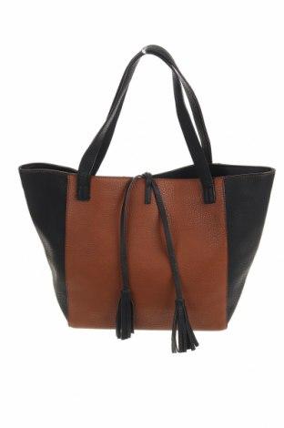 Γυναικεία τσάντα Camaieu, Χρώμα Καφέ, Δερματίνη, Τιμή 19,16€