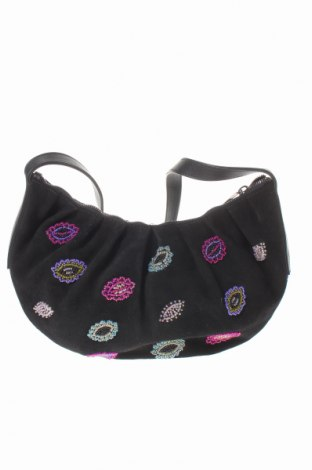Γυναικεία τσάντα Chacok, Χρώμα Μαύρο, Φυσικό σουέτ, Τιμή 50,52€