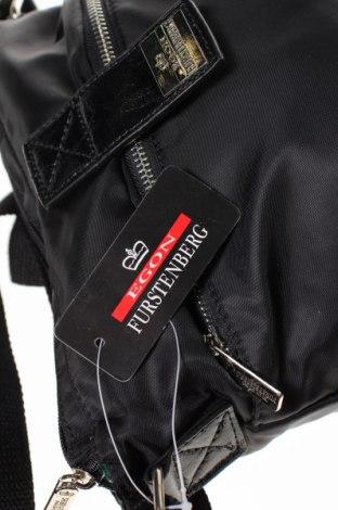 Γυναικεία τσάντα Egon Von Furstenberg, Χρώμα Μαύρο, Κλωστοϋφαντουργικά προϊόντα, Τιμή 42,14€