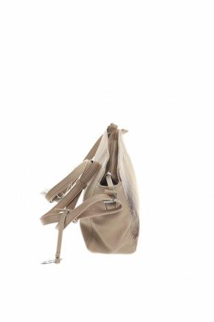 Дамска чанта United Colors Of Benetton, Цвят Бежов, Еко кожа, Цена 44,25лв.