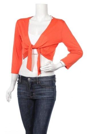 Дамска жилетка Carna By, Размер L, Цвят Оранжев, 95% вискоза, 5% еластан, Цена 6,52лв.