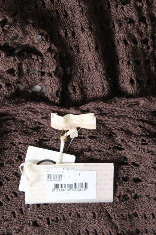 Γυναικεία ζακέτα La Fee Maraboutee, Μέγεθος S, Χρώμα Καφέ, 88% βαμβάκι, 12% βισκόζη, Τιμή 15,65€