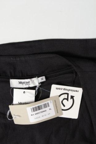 Γυναικεία ζακέτα Myrine, Μέγεθος XL, Χρώμα Μαύρο, 96% τενσελ, 4% ελαστάνη, Τιμή 6,40€
