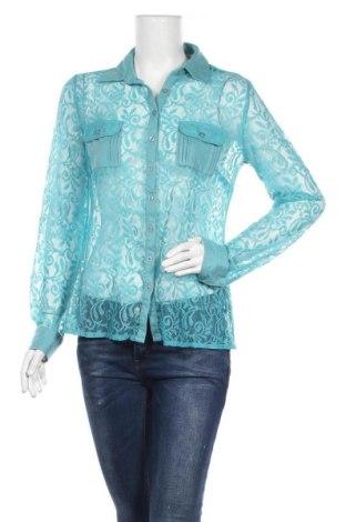 Γυναικείο πουκάμισο B.C. Best Connections, Μέγεθος M, Χρώμα Μπλέ, Πολυαμίδη, Τιμή 5,71€